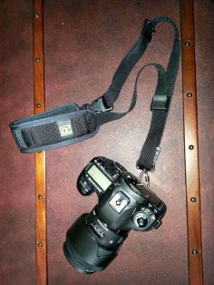My camera with a Black Rapid Curve Strap